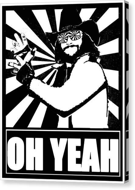 Randy Savage Canvas Print - Macho Man Randy Savage by Jason Kimble