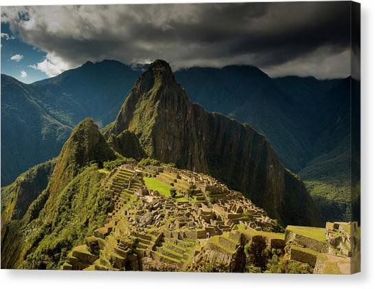 Andes Mountains Canvas Print - Machu Picchu, Ancient Ruins, Unesco by Howie Garber
