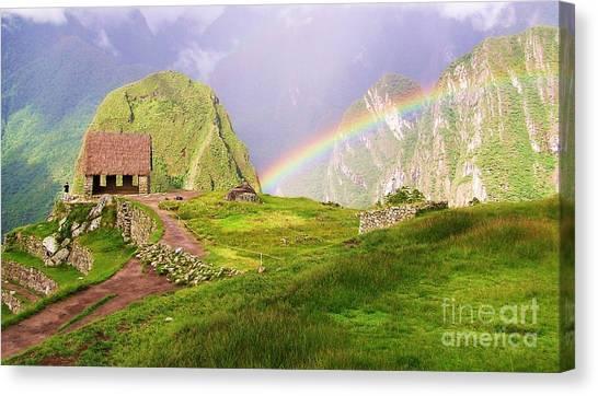 Machu Picchu Rainbow Canvas Print
