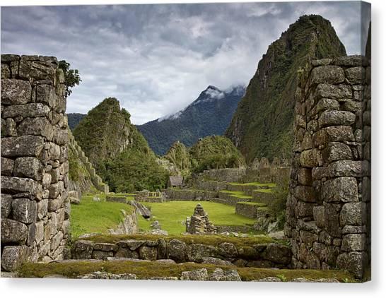 Machu Picchu Through The Roof Canvas Print