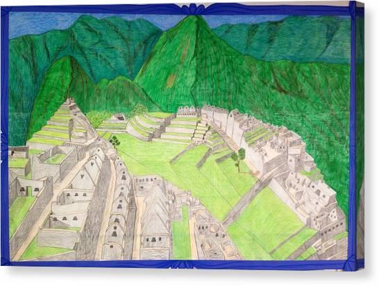 Machu Picchu Canvas Print by Yusbel Lopez