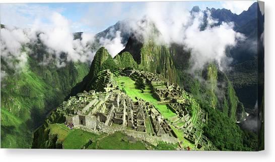 Machu Picchumachu Picchu Canvas Print by Ramihalim