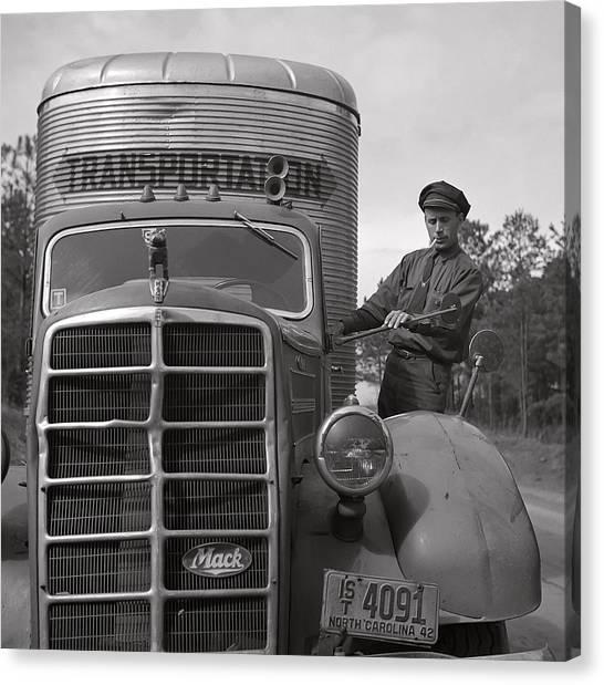 Truck Driver Canvas Print - Mack Truck  1943 by Daniel Hagerman
