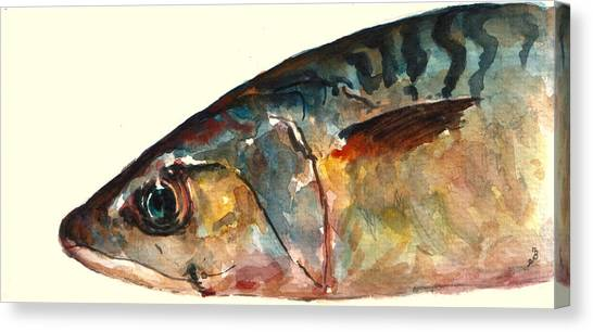 Fish Canvas Print - Mackerel Fish by Juan  Bosco