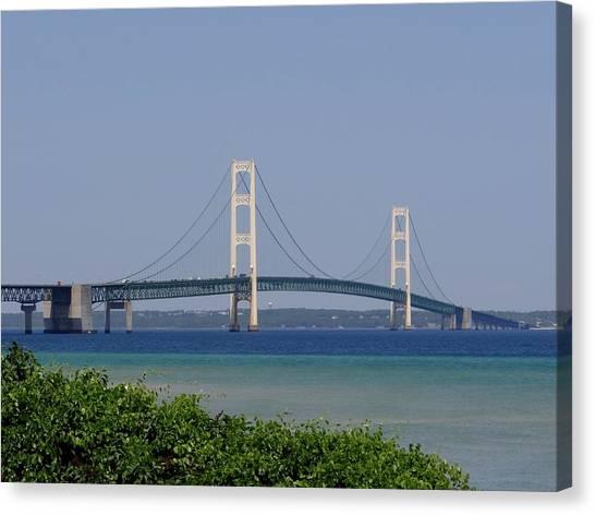 Mackinac Bridge Blue Canvas Print