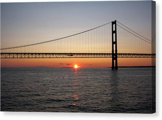 Mackinac Bridge Sunset Canvas Print