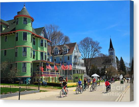 Mackinac Island Waterfront Street Canvas Print
