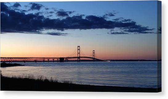 Mackinaw Bridge Twilight Canvas Print
