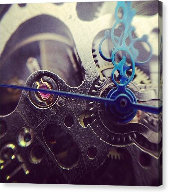 Steampunk Canvas Print - Macro Of My New Gutsy Wrist Watch 😍 by KLH Streets Photography