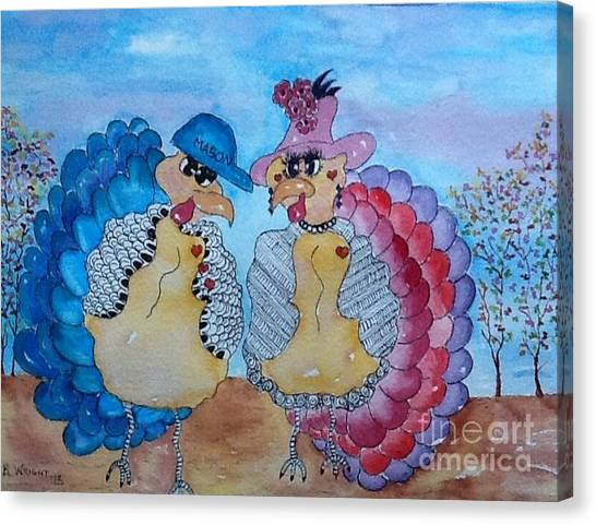 Macy Meets Mason Canvas Print by Bonnie Wright