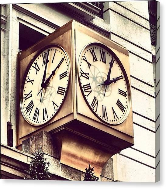 Design Canvas Print - Macy's Clock by Boris Mordukhayev