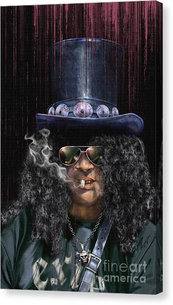 Mad As A Hatter - Slash Canvas Print
