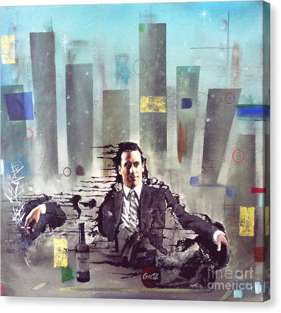 Mad Men Disintegration Of Don Draper Canvas Print
