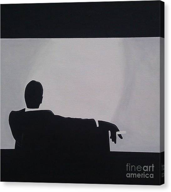 Mad Men In Silhouette Canvas Print