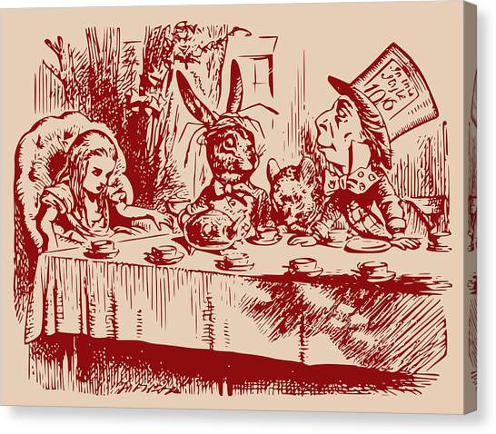 March Hare Canvas Print - Mad Tea Party by