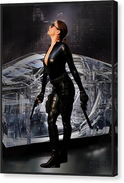Madam Matrix Canvas Print