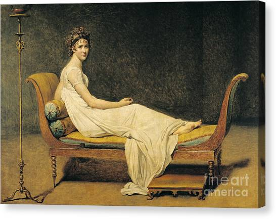 Neoclassical Art Canvas Print - Madame Recamier by Jacques Louis David