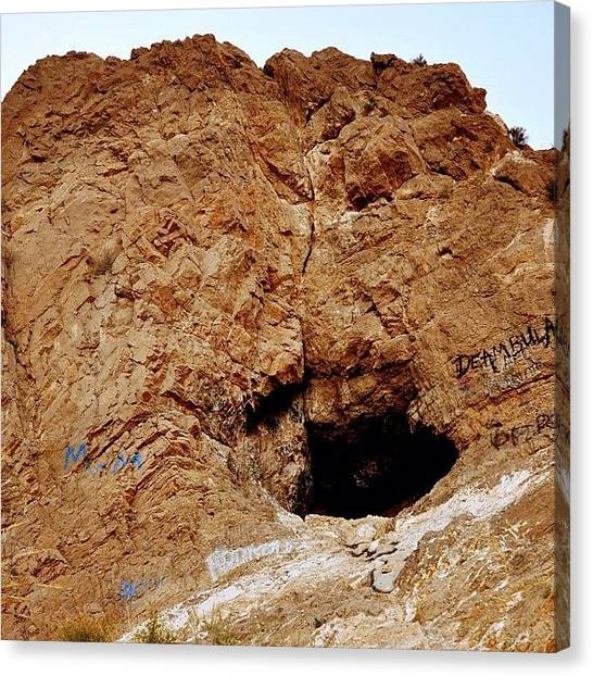 Spelunking Canvas Print - Made It To The #top! Now I'm Going In! by Orlando Diaz