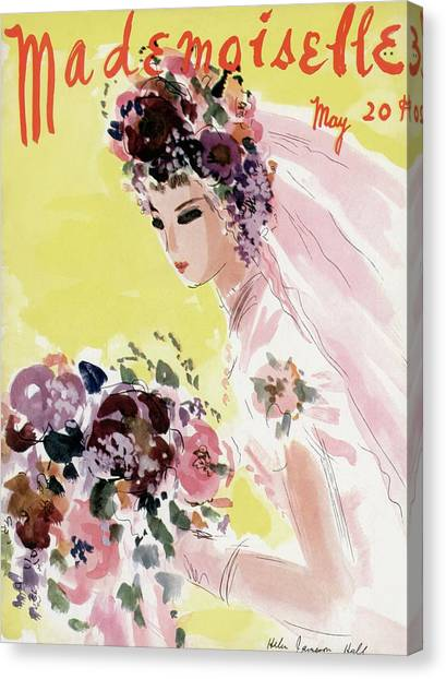 Mademoiselle Cover Featuring A Bride Canvas Print