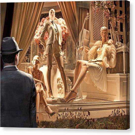 Madison Ave Meets Rodeo Drive Canvas Print