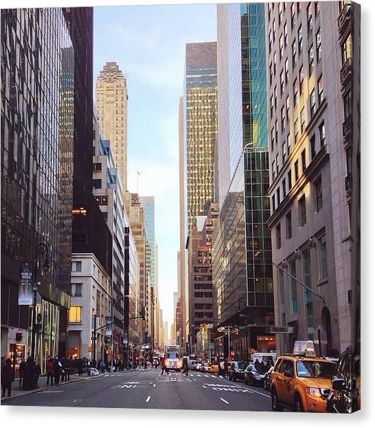 Queens Canvas Print - Madison Avenue Stroll by Victoria Savannah