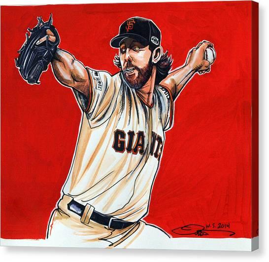 Espn Canvas Print - Madison Bumgarner World Series Mvp by Dave Olsen