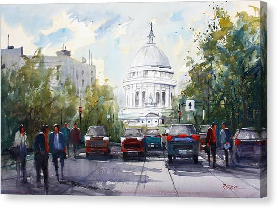 Capitol Building Canvas Print - Madison - Capitol by Ryan Radke