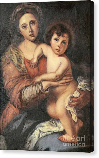 Madona And Child Canvas Print