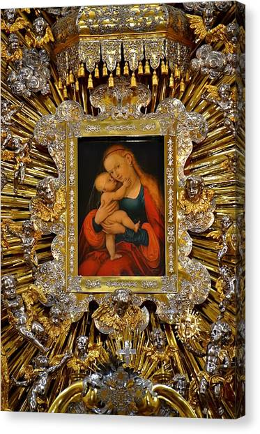 Madonna And Child By Lucas Cranach Canvas Print