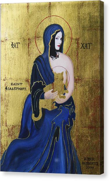 Madonna And Child Canvas Print by Eve Riser Roberts