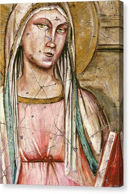 Bogdanoff Canvas Print - Madonna Del Parto - Study No. 1 by Steve Bogdanoff