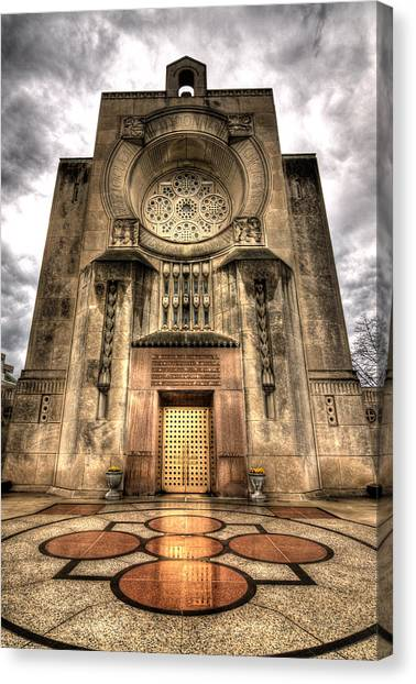 Loyola University Chicago Canvas Print - Madonna Della Strada Chapel by Greg Thiemeyer
