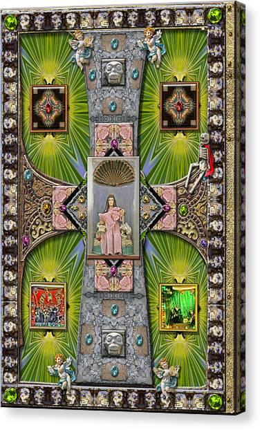 Canvas Print - Madonna Of Valladolid Mexico by Ron Morecraft