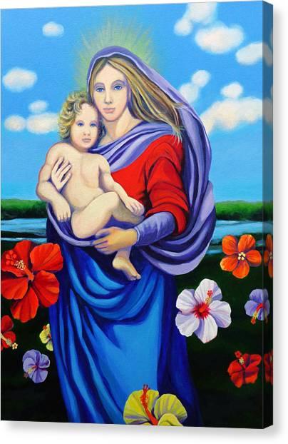 Madonna Rafaelina Canvas Print by Kyra Belan