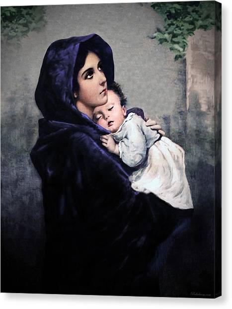 Madonnina Canvas Print by A Samuel