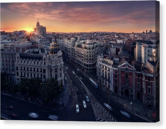 Madrid Canvas Print - Madrid City by Iv?n Ferrero