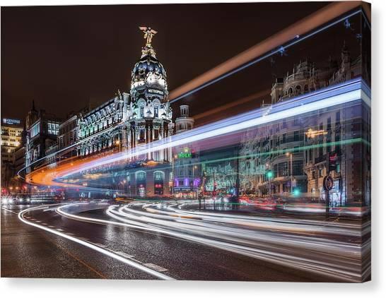 Madrid Canvas Print - Madrid Traffic by Javier De La