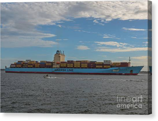 Maersk Line Beaumont Canvas Print