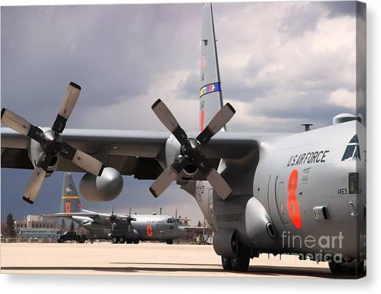 Maffs C-130s At Cheyenne Canvas Print