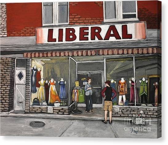 Magasin Liberal Notre Dame  Canvas Print by Reb Frost