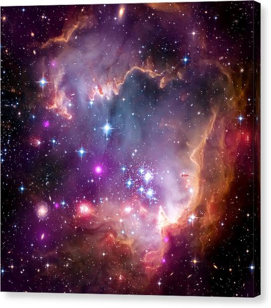 Outer Space Canvas Print - Magellanic Cloud 3 by Jennifer Rondinelli Reilly - Fine Art Photography