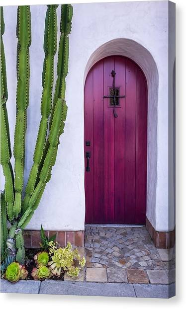 California Canvas Print - Magenta Door by Thomas Hall