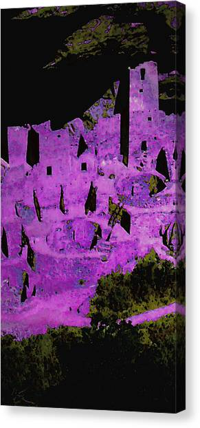 Magenta Dwelling Canvas Print