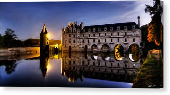 Chenonceau Castle Canvas Print - Magic Castle In The Moonlight by Weston Westmoreland