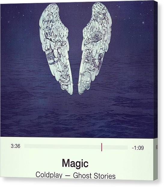 Bands Canvas Print - #magic #coldplay #music by Brett Connors