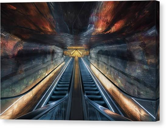 Subway Canvas Print - Magic Elevator by Liwulei
