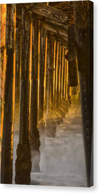Magic Hour Under Seal Beach Pier Canvas Print