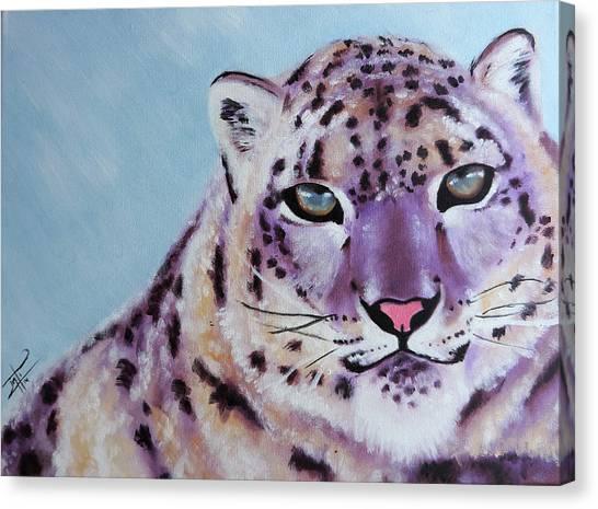 Magic Snow Leopard Canvas Print by Inti Garcia