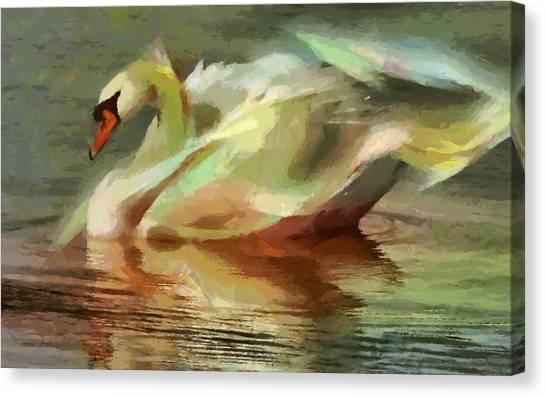 Magic Swan Canvas Print