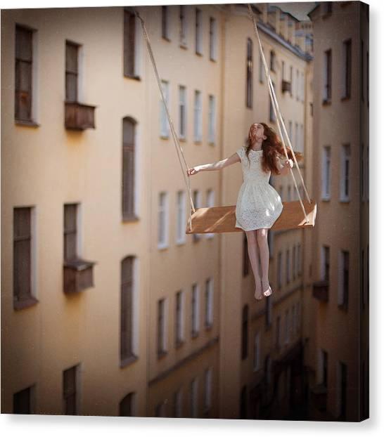 Surreal Canvas Print - Magic Swings by Anka Zhuravleva
